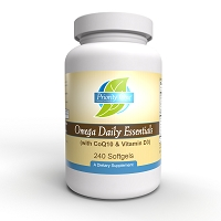 Omega Daily Essentials with CoQ10 & Vitamin D3 (240 Softgels)