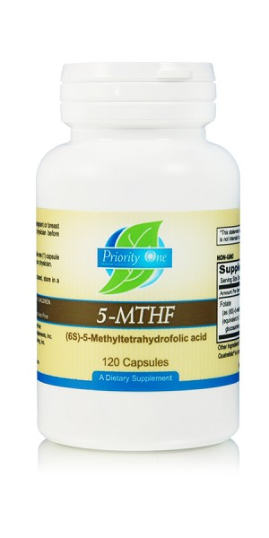 5 MTHF as (6S)-5-methyltetrahydrofolic acid) (120 Vegetarian Capsules)