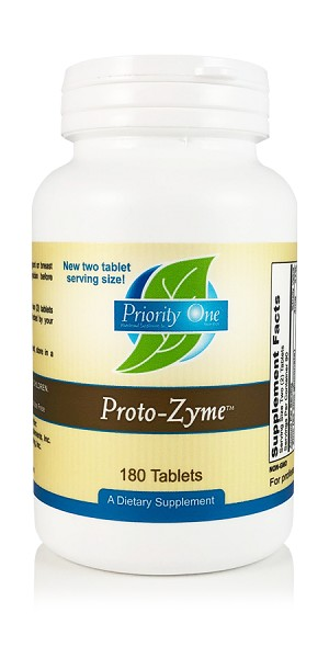 Proto-Zyme (180 Tablets)  New two tablet serving!
